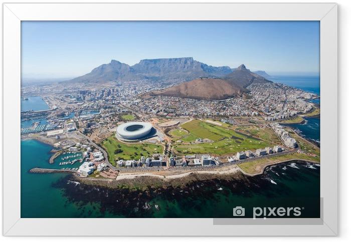 Plakat w ramie Ogólny widok z lotu ptaka od Cape Town, Republika Południowej Afryki - Przeznaczenia