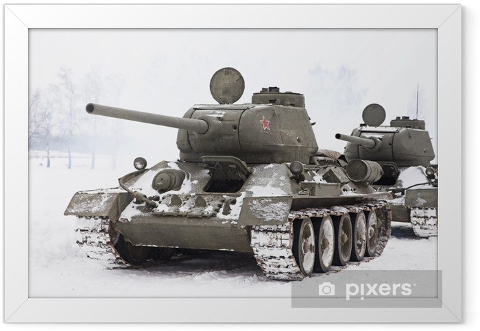 Russian Tanks T34 Framed Poster - Themes