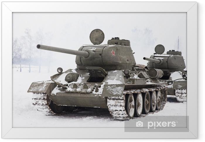 Plakat w ramie Rosyjskie czołgi T34 - Tematy