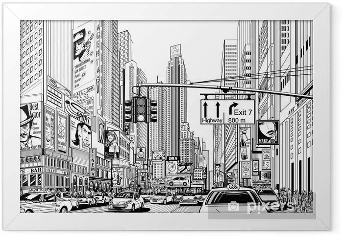 street in New York city Framed Poster - Urban