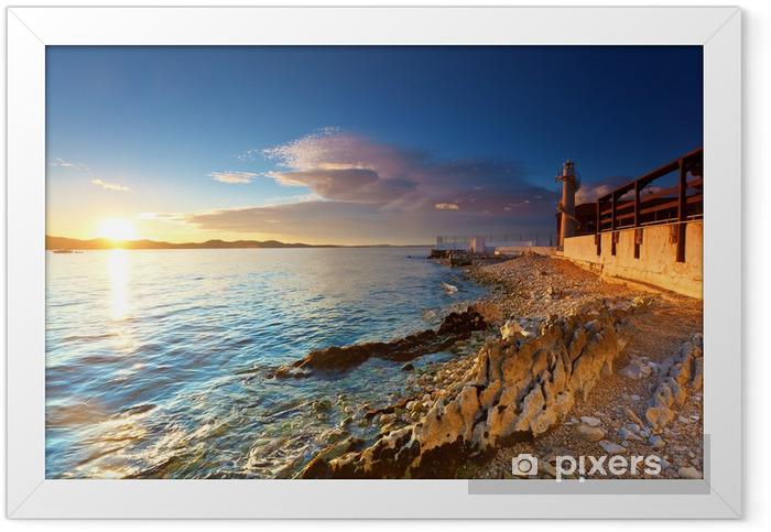 Plakat w ramie Latarnia morska w Zadarze - Latarnia morska