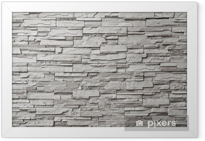 The gray modern stone wall Framed Poster - Styles