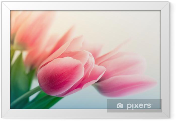 Plakat w ramie Wiosenne tulipany - Tematy