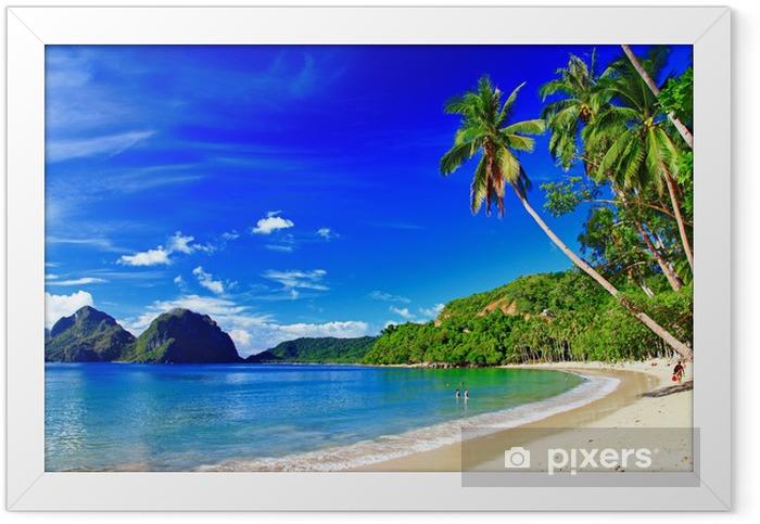 panoramic beautiful beach scenery - El-nido,palawan Framed Poster - Themes