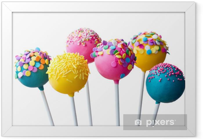 Plakat w ramie Cake pops - Słodycze i desery