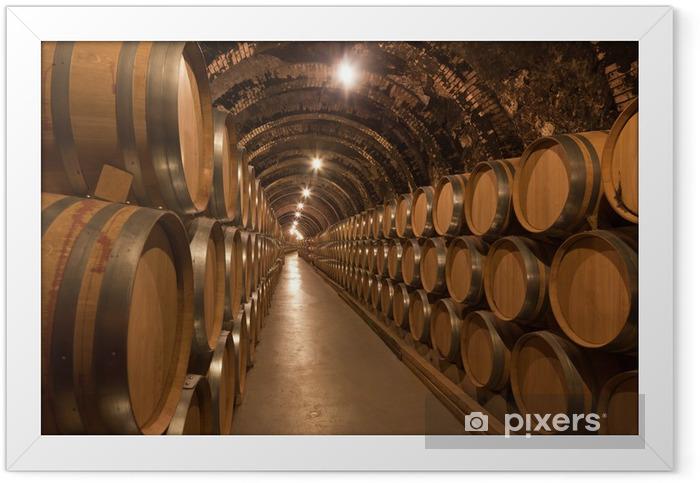 Barriles de vino en la bodega Framed Poster - iStaging