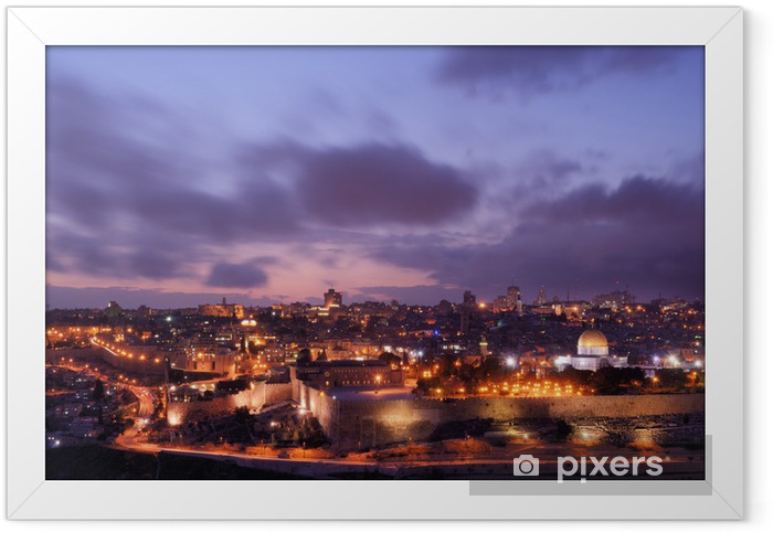 Poster en cadre Jérusalem horizon - Moyen Orient