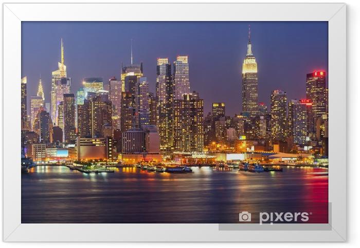 Plakat w ramie Manhattan nocą -