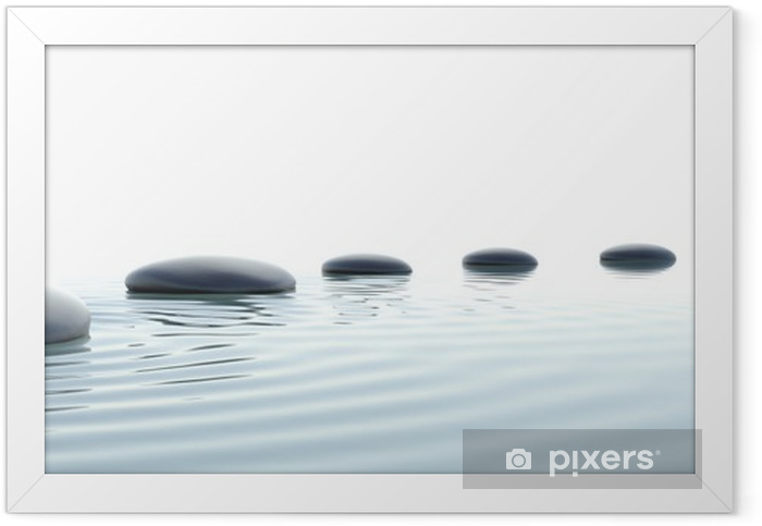 Zen path of stones in widescreen Framed Poster - Styles