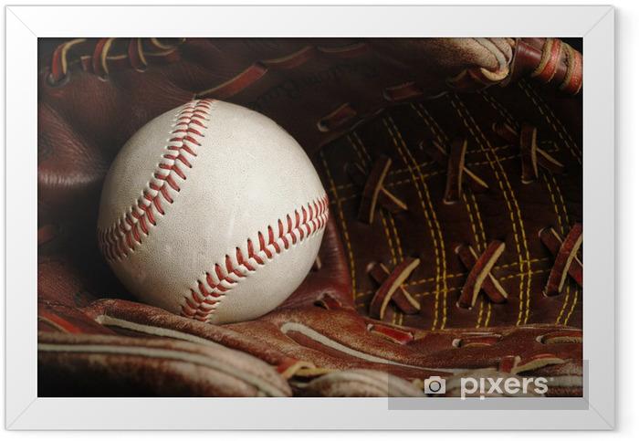 Plakat w ramie Baseball - Sporty drużynowe