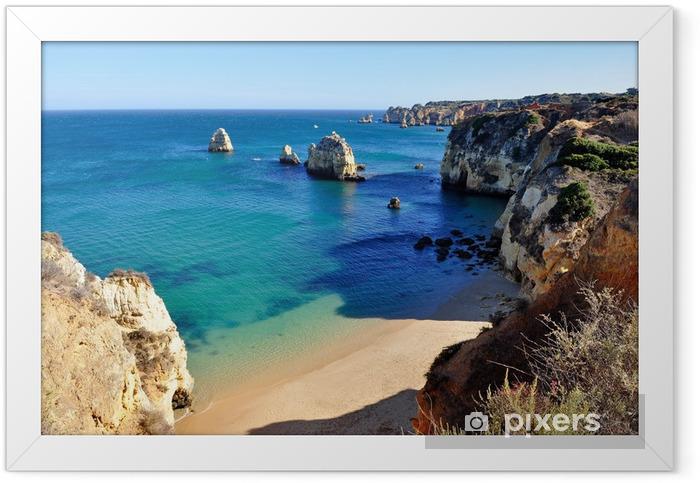 Beach in Algarve Framed Poster - Themes
