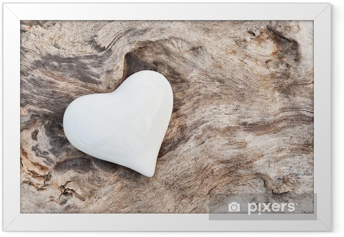 Poster en cadre White Heart - Styles