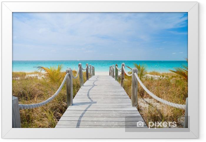 Caribbean beach Framed Poster - Themes