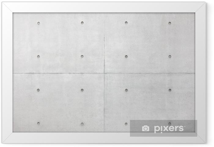 Plakat w ramie Abstrakcyjne tło, szare ściany cementu - Style