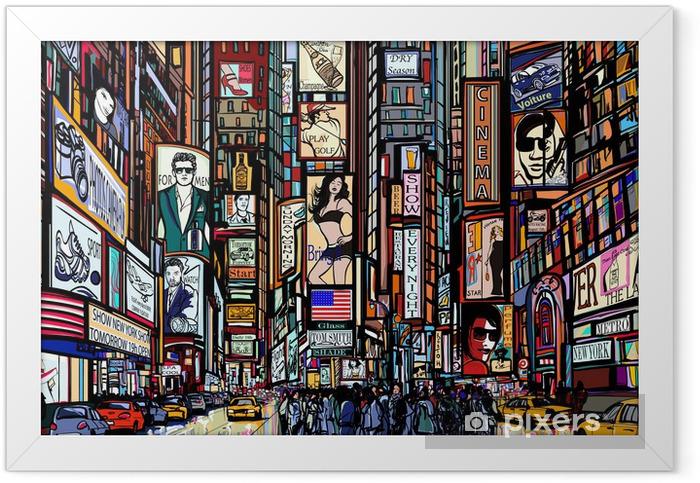 street in New York city Framed Poster - Art & lifestyle
