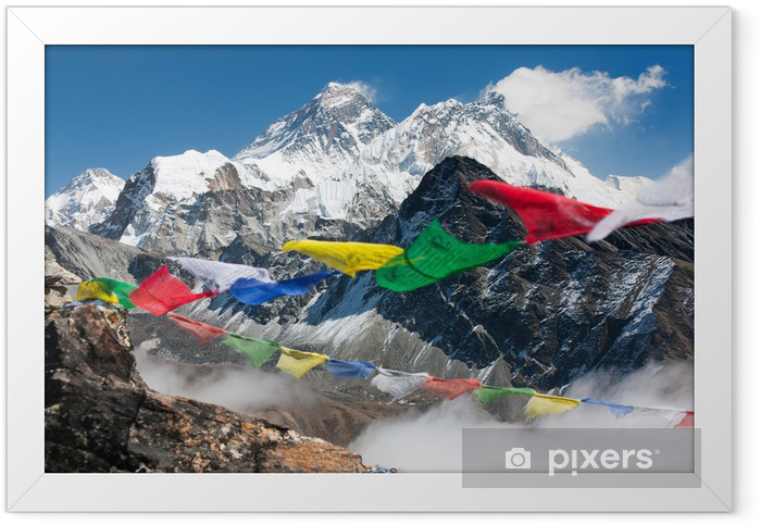view of everest from gokyo ri Framed Poster - Themes