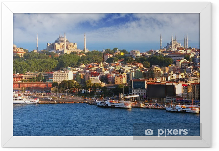 Istanbul from Galata tower, Turkey Framed Poster - Themes