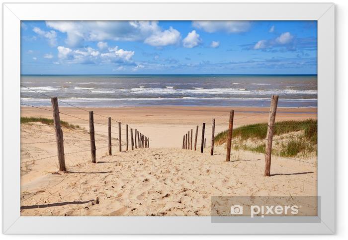 Plakat w ramie Ścieżka do piaszczystej plaży przez północno morza - Przeznaczenia