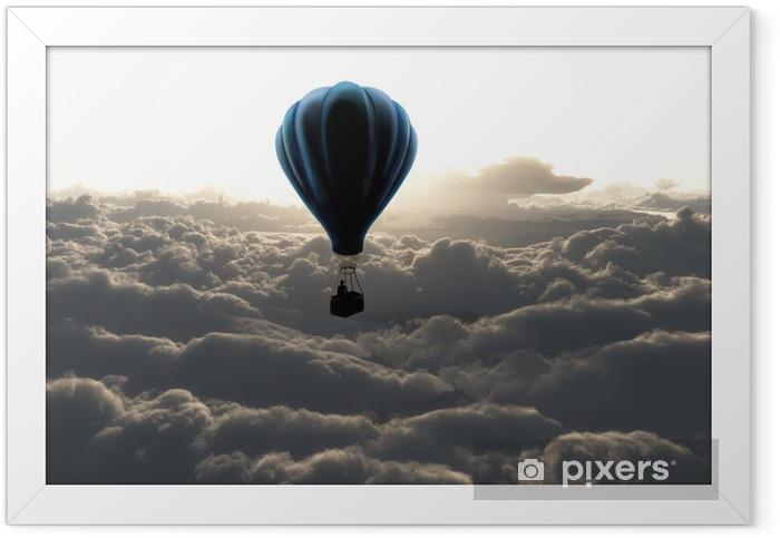 Poster en cadre Montgolfière dans le ciel - Styles