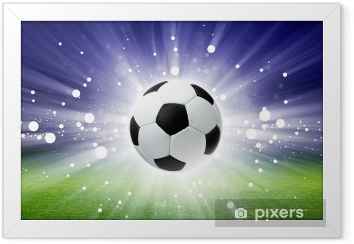 Soccer ball, stadium, light Framed Poster -
