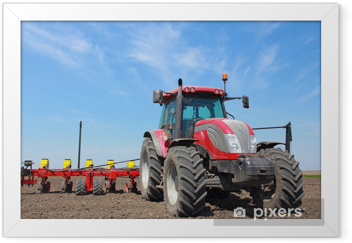Agricultural machinery, sowing Framed Poster - Themes