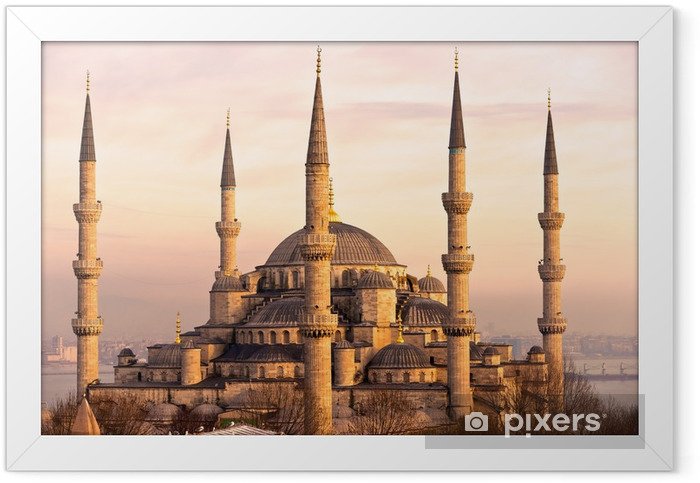 The Blue Mosque, Istanbul, Turkey. Framed Poster - Themes