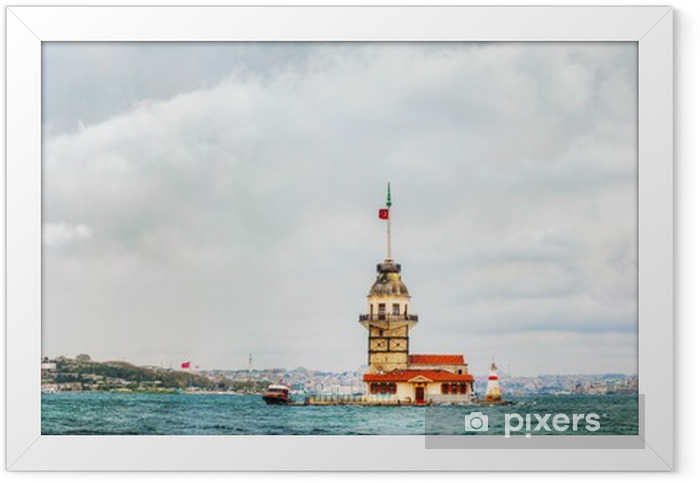 Maiden's island in Istanbul, Turkey Framed Poster - Asia