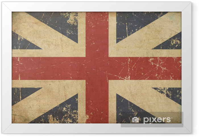 Union Jack 1606–1801 (The King's Colours) Flat Aged Framed Poster - National flags