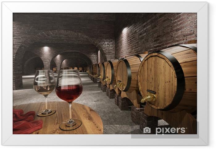 Plakat w ramie Starożytny winiarnia - Wino