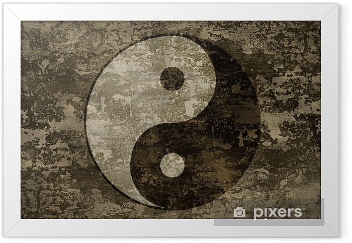 The ancient oriental symbol of yin-yang Framed Poster - Religion