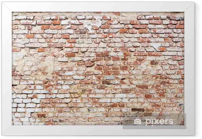 Plakat w ramie Mur ceglany z rocznika wygląd - Tematy