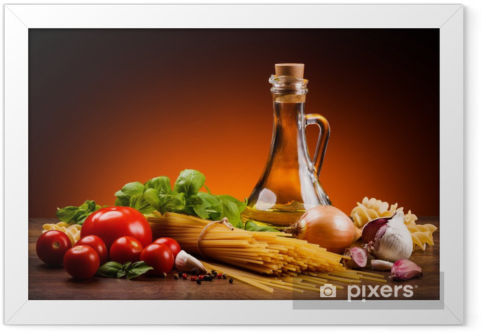 Pasta and fresh vegetables Framed Poster - Themes