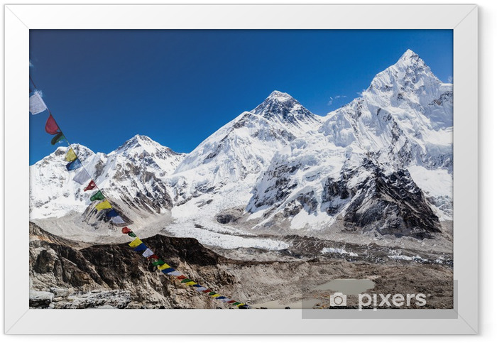 Mount Everest mountains landscape Framed Poster - Themes