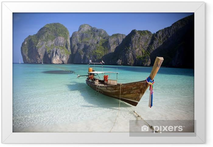 Maya Bay, Koh Phi Phi Ley, Thailand. Framed Poster - Themes