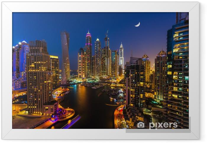 Plakat w ramie Dubai Marina. Zjednoczone Emiraty Arabskie - Tematy