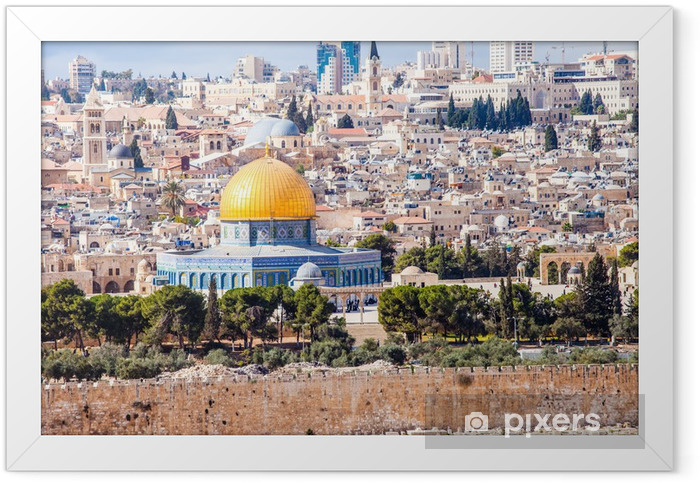 Poster en cadre Mousque d'Al-Aqsa dans la vieille ville - Jérusalem, Israël - Moyen Orient