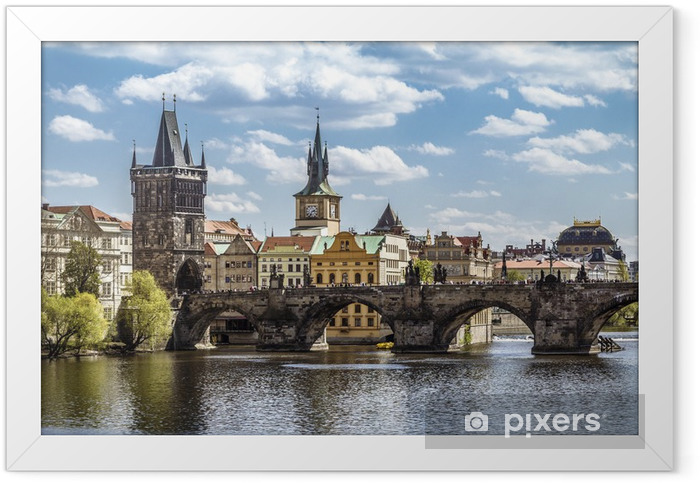 Prague, Charles Bridge (Karluv Most) Framed Poster - Prague