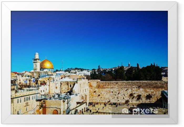 Poster en cadre Le Mur des Lamentations à Jérusalem, Israël - Moyen Orient