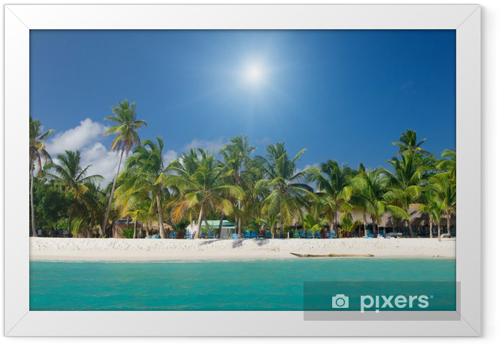 tropical beach Framed Poster - Water