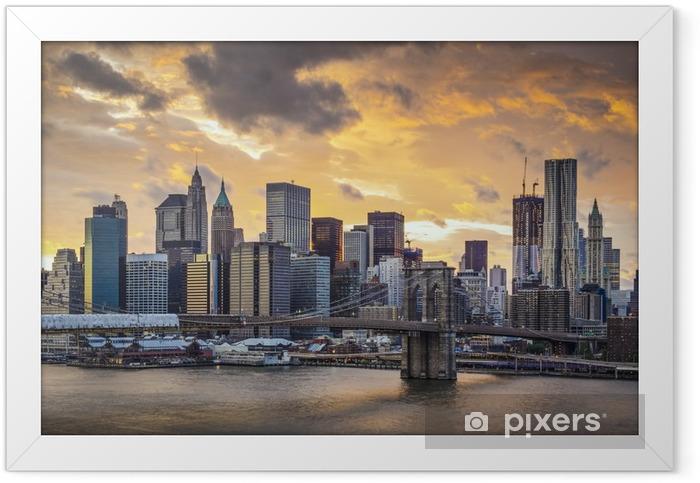 New York City Skyline Framed Poster -