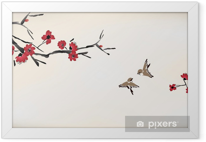 blossom painting Framed Poster - Styles