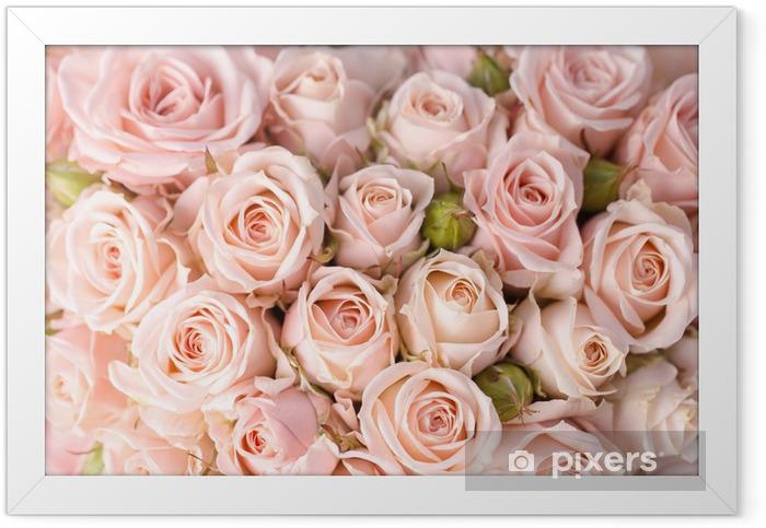 Plakat w ramie Tło jasny róż - Tematy