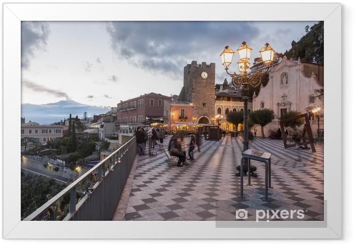Taormina ed Etna Framed Poster - Europe