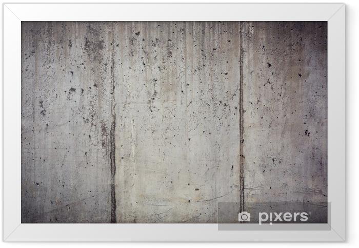 Plakat w ramie Tekstura muru betonu - Tematy