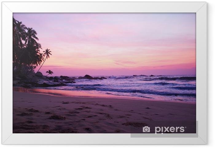 Sunset on the ocean, Sri Lanka beach Framed Poster - Asia