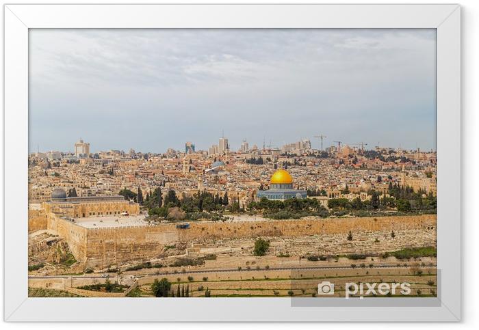 Poster en cadre Dome of the rock - Moyen Orient