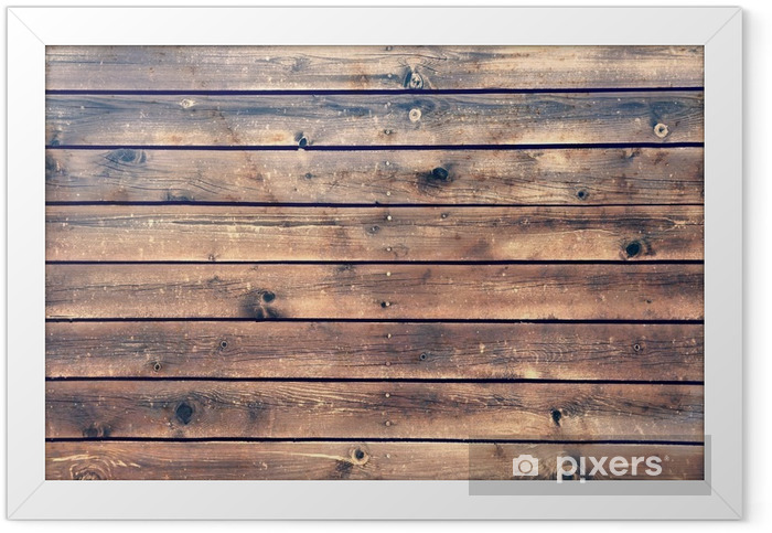 Wood Board Plank Panel Brown Background, XXXL Framed Poster - Styles
