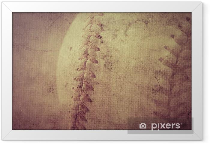 Plakat w ramie Baseball rocznika tle - Tła