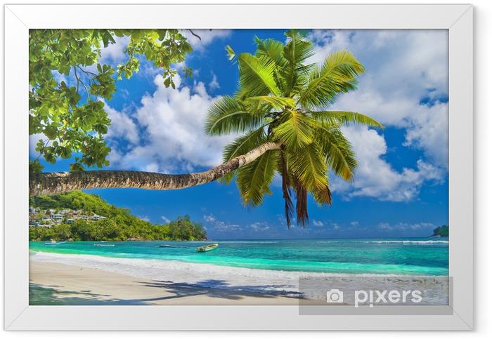 Idyllic tropical scenery - Seychelles Framed Poster - Themes