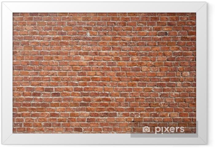 Ingelijste Poster Bakstenen muur, achtergrond - Thema's